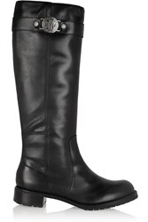 Dkny Mirabelle Leather Boots Black