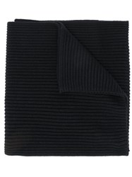 Tommy Hilfiger Ribbed Knit Scarf Black