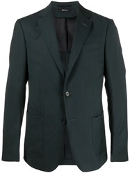 Z Zegna Textured Wool Single Breasted Suit Jacket 60