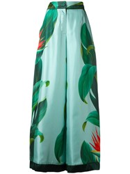 F.R.S For Restless Sleepers Floral Print Palazzo Pants Green