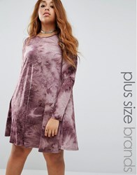 Alice And You Oversized Tie Dye Shift Dress Purple