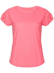 Kate Spade Ruffle Sleeve T Shirt Pink And Purple