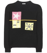 Miu Miu Knitted Cashmere Sweater Black