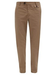 Oliver Spencer Fishtail Cotton Trousers Brown