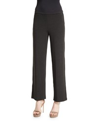 Eileen Fisher Straight Leg Stretch Pants Charcoal Grey Women's