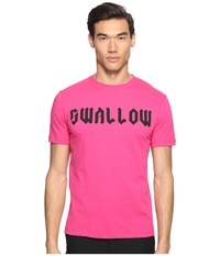 Mcq By Alexander Mcqueen Gothic Swallow Short Sleeve T Shirt Iconic Pink