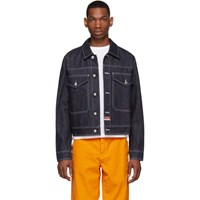 Kenzo Navy Denim Bamboo Tiger Jacket