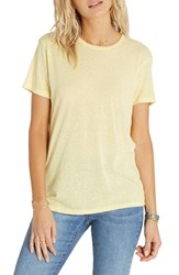 Billabong Women's 'Stayin Wild' Graphic Knit Tee Vintage Gold