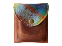 Pendleton Leather Coin Pouch Ombre Plaid Coin Purse White