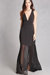 Forever 21 Mesh Layered Maxi Dress