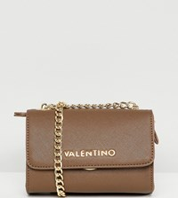 Valentino By Mario Valentino Cross Body Bag With Chain Detail Beige