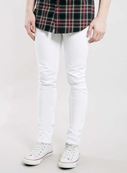 Topman White Stretch Skinny Jeans