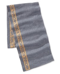 Michael Kors Men's Side Stripe Signature Scarf Camel Ash