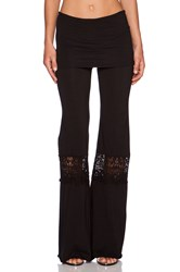 Nightcap Crochet Beach Pant Black