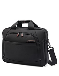 Samsonite 4 Dlx Slim Nylon And Leather Briefcase Black
