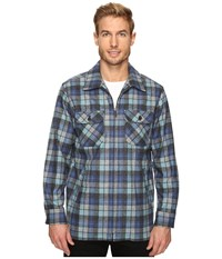 Pendleton Brightwood Zip Jacket Blue Green Original Surf Plaid Men's Coat