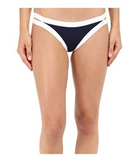 L Space Color Block Charlie Bottom Midnight Blue Women's Swimwear