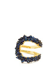 Ana Khouri Mirian 18Kt Gold And Sapphire Ring Blue