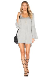 Chaser Cool Jersey Flared Sleeve Dress Gray