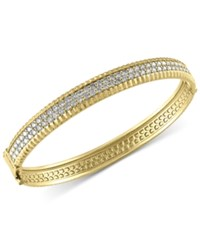 Effy Collection Trio By Effy Diamond Bangle Bracelet 2 1 6 Ct. T.W. In 14K White Yellow And Rose Gold Yellow Gold