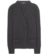 Dolce And Gabbana Cashmere Cardigan Grey