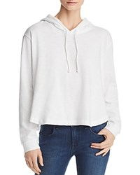 Three Dots Cropped Hoodie White