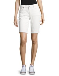 Ck Calvin Klein Solid Five Pocket Shorts White