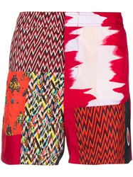 Missoni Mare Patchwork Swim Shorts Red