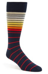 Men's Paul Smith 'Sliding Stripe' Socks Blue Aqua Blue