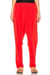 Baja East Satin Back Crepe Trousers In Red