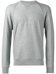 Burberry Crew Neck Sweatshirt Men Cotton Viscose S Grey