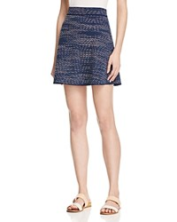 M Missoni Textured Chevron Skirt Blue