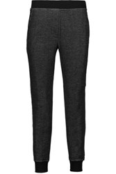 Alexander Wang T By Frayed French Terry Tapered Pants Gray