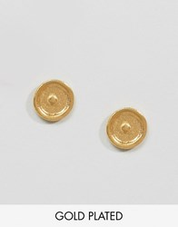 Ottoman Hands Signs And Symbols Sun Stud Earrings Gold