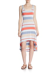 Marc New York By Andrew Marc Performance Striped Hi Lo Dress
