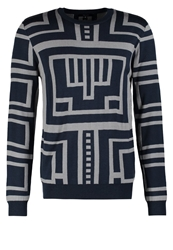 Villain Anca Jumper Navy Grey Dark Blue