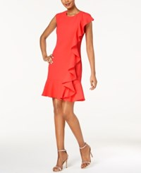 Jessica Howard Ruffled Dress Red