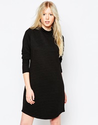 Vero Moda High Neck Long Sleeve Bodycon Dress Black