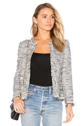 Rebecca Taylor Boucle Tweed Jacket Black And White