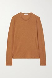 James Perse Slub Cotton Jersey Top Tan