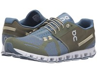 On Cloud Olive Grey Men's Running Shoes Green