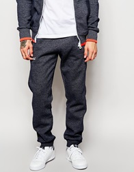 Superdry Tracksuit Bottoms With Tipping Navy
