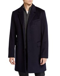 Andrew Marc New York Wool Cashmere Peacoat Navy