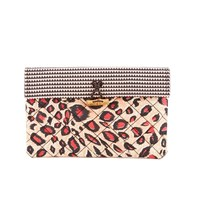 Maison Scotch Women's Printed Clutch Pink