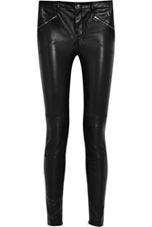 Blk Dnm Stretch Leather Skinny Pants