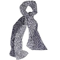 Studiomh Silk Twill Shawl Rectangle Black White