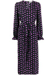 Essentiel Antwerp Floral Print Tellen Dress Black