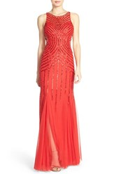 Women's Sean Collection Embellished Mesh Mermaid Gown