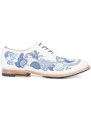 Sartori Gold Lace Up Shoes White