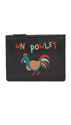 Lizzie Fortunato Un Poulet Zip Pouch Black Red